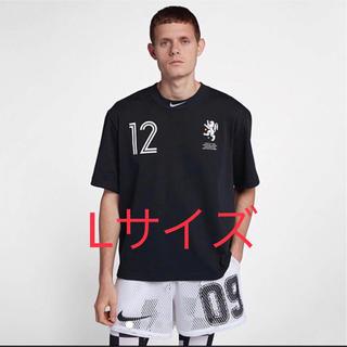 ナイキ(NIKE)の新品 L NIKE OFF-WHITE クロップドTシャツ ナイキ Tシャツ(Tシャツ/カットソー(半袖/袖なし))