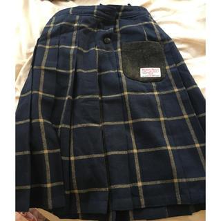 シマムラ(しまむら)のしまむらハリスツイード プリーツスカート Mサイズ(ロングスカート)