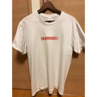 シュプリーム(Supreme)のsupreme シュプリーム モーションロゴ 白 Tシャツ(Tシャツ/カットソー(半袖/袖なし))