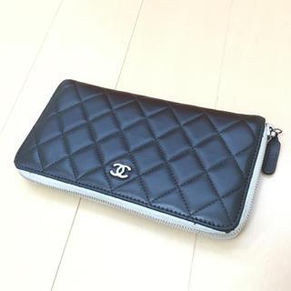 シャネル(CHANEL)の美品◆シャネル◆ラウンドファスナー◆財布◆ブラック(財布)