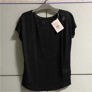 リーボック(Reebok)のリーボック レディース Tシャツ カットソー 黒 未使用(トレーニング用品)