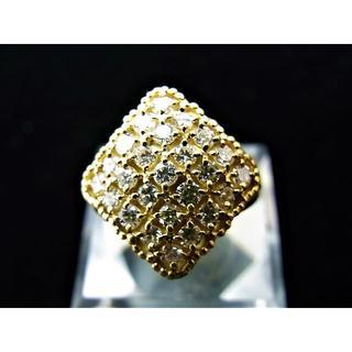 K18 18金 パヴェ ダイヤ リング 指輪 ダイヤ 1.00ct   (リング(指輪))