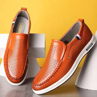 ■26.5cm■ブラウン スニーカー ローファー 革靴 スリッポン ウォーキング(スニーカー)