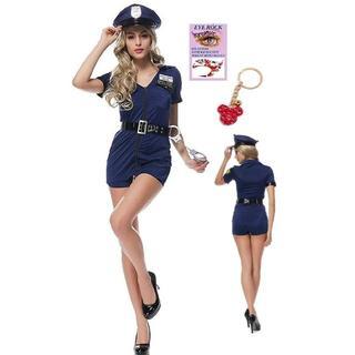 ユニバーサルスタジオジャパン(USJ)の 警官 婦警 ブルー ポリス コスプレ レディース インディード (衣装一式)