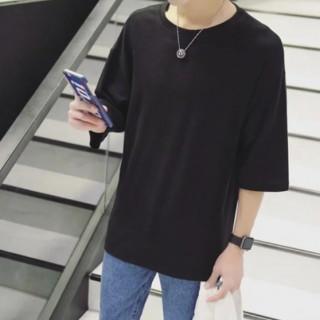 ビックシルエットTシャツ メンズ ブラック(Tシャツ/カットソー(半袖/袖なし))