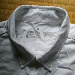 ムジルシリョウヒン(MUJI (無印良品))の無印良品 オックスフォードボタンダウンシャツ M 白 長袖(シャツ)