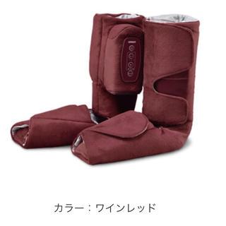 オムロン(OMRON)のオムロン エアーマッサージャー☆ワインレッド(マッサージ機)