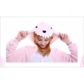着ぐるみ 大人用 恐竜ピンク パジャマ 動物 フリース アニマル 冬 プレゼント(ルームウェア)