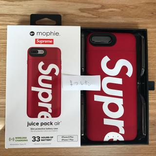 シュプリーム(Supreme)の※送料込 Supreme mophie iPhone 8 Plus 赤(iPhoneケース)