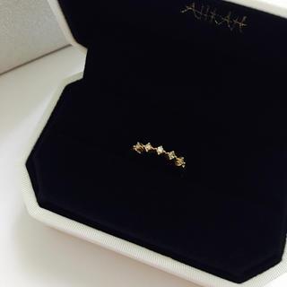 アーカー(AHKAH)のAHKAH アーカー エターナルハーフ ピンキーリング k18 ダイヤ 指輪(リング(指輪))