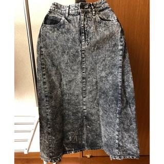 ケースリー(k3)の値下 k3&co. SNOW WASH SKIRT 新品 ロングスカート デニム(ロングスカート)