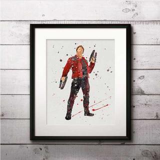 ディズニー(Disney)のピータークイル・ガーディアンズオブギャラクシー ・マーベル・アートポスター(ポスター)
