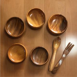 天然木 食器7点セット