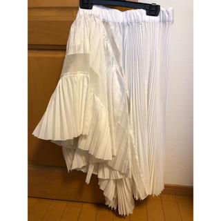 サカイ(sacai)のsacaiアシンメトリースカート(ひざ丈スカート)