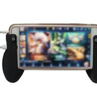iPhone,iPad,スマホゲーム用グリップ ブラック ソシャゲ(その他)
