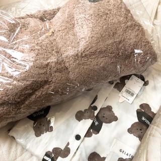 ジェラートピケ(gelato pique)の新品 ジェラピケ くま ワンピース クマモコパーカー セット(ルームウェア)