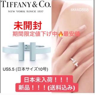 f20e2028f Tiffany & Co. - 最安値!!!【ティファニー 】T スクエアリング 日本未入荷・正規品!!!!の通販|ラクマ