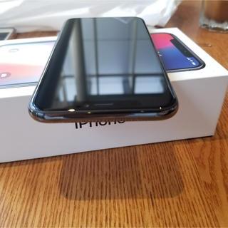アップル(Apple)のiphone x 256 美品 applecare+付き(スマートフォン本体)