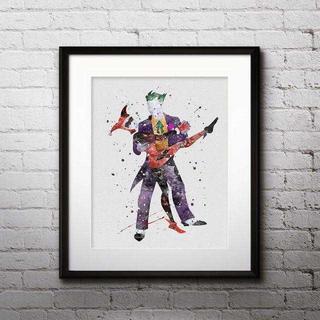 ディズニー(Disney)のジョーカー&ハーレークイン(スーサイドスクワッド)アートポスター【額縁つき!】(ポスター)