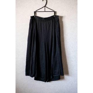 コムデギャルソン(COMME des GARCONS)のsunao kuwahara ブラックワイドパンツ 黒(サルエルパンツ)