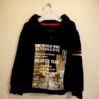 110cm☆黒トレーナー(Tシャツ/カットソー)