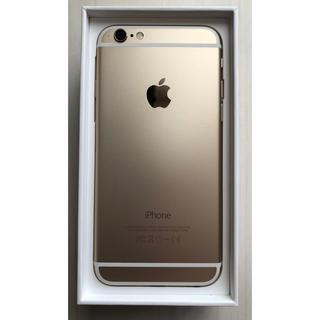 アップル(Apple)の【最終値下げ】【美品】docomo iPhone6 Gold 64GB 本体(スマートフォン本体)