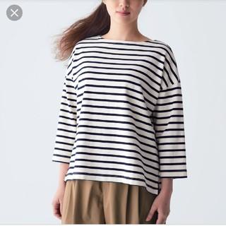 MUJI (無印良品) - 無印良品 オーガニックコットン太番手ドロップショルダーTシャツ(7分袖)