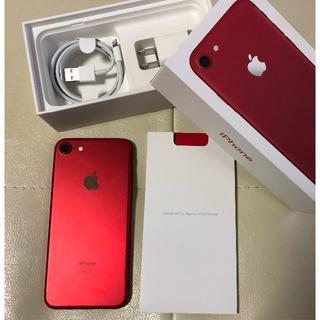 アップル(Apple)の【極美】iphone7 red product 128GB 限定カラー アップル(スマートフォン本体)