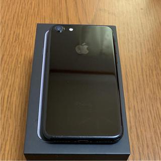 アップル(Apple)の値下げしましたiPhone 7 Jet Black 128 GB docomo(スマートフォン本体)