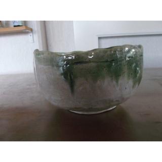 手作り 陶器製花器 中 口径14㎝ 高さ8㎝(その他)