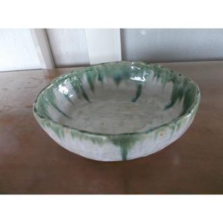 手作り 陶器製花器 大 横24㎝ 縦21㎝ 高さ7㎝(その他)