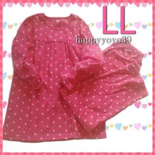 新品LL レディース フリース パジャマ チェリーピンク 大きいサイズ セシール