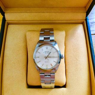 ロレックス(ROLEX)の【大特価】ROLEX AirKing アンティーク腕時計 正規品 ホワイト🎀(腕時計(アナログ))