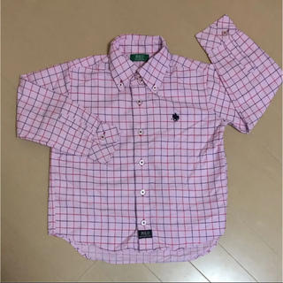ポロラルフローレン(POLO RALPH LAUREN)のPOLO  Yシャツ 120  ポロ  シャツ 120  美品  ネルシャツ(Tシャツ/カットソー)