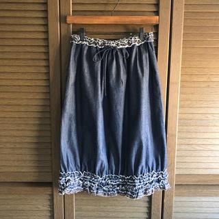ツモリチサト(TSUMORI CHISATO)の【 TUMORI CHISATO 】ふんわり可愛い♪ スカート ☆ ラメ刺繍 ☆(ひざ丈スカート)