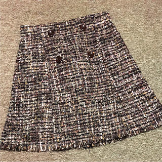 Lily Brown - リリーブラウン ファンシーツイードスカート
