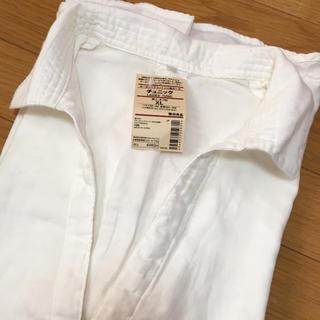 MUJI (無印良品) - 無印良品 MUJI レディース チュニック 白シャツ