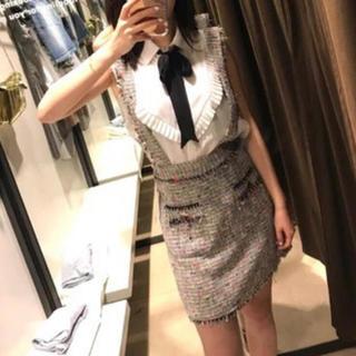ZARA - zara 好きにおすすめ ツイード スカート