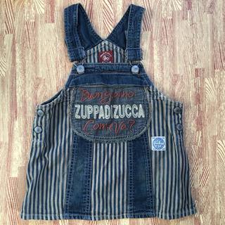 ズッパディズッカ(Zuppa di Zucca)のZUPPA DI ZUCCA ズッパディズッカ デニムジャンパースカート 90(ワンピース)