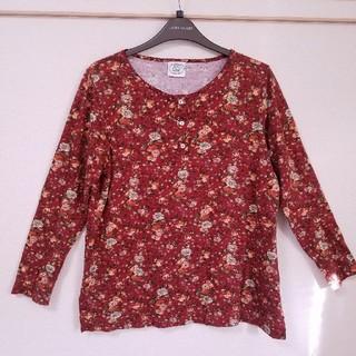 ローラアシュレイ(LAURA ASHLEY)のローラアシュレイ 花柄長袖シャツL(Tシャツ(長袖/七分))