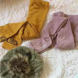 しまむら - winter set♡タイツ85cm ベレー帽52-56