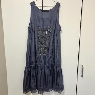 ザラ(ZARA)のZARA☆ザラ 新品 シルクワンピース ドレス パーティー リゾート ビジュー(ひざ丈ワンピース)
