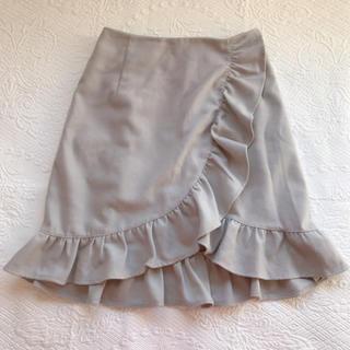 バイバイ(ByeBye)のラップフリルスカート(ひざ丈スカート)