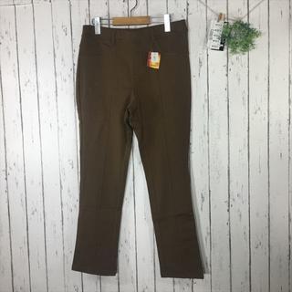 新品3L 大きいサイズ 温感ヒート素材 ウエストゴム裏起毛パンツ ブラウン(カジュアルパンツ)