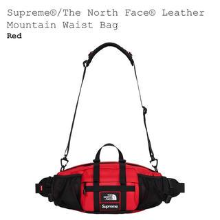 Supreme - supreme TNF Waist Bag 赤