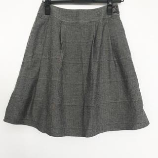 エフデ(ef-de)のエフデ★ウールチェックスカート(ひざ丈スカート)