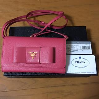 プラダ(PRADA)のプラダ  リボン ショルダーウォレット 長財布  (財布)