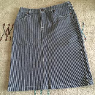 ムジルシリョウヒン(MUJI (無印良品))のヒッコリー スカート(ひざ丈スカート)