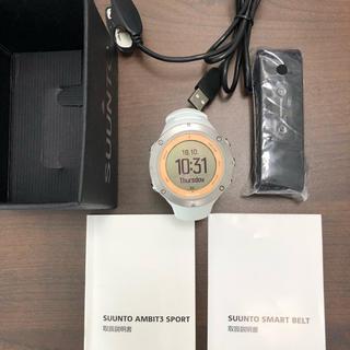 スント(SUUNTO)のスントSUUNTO AMBIT3 アンビット3スポーツサファイア【HRベルト付属(腕時計(デジタル))