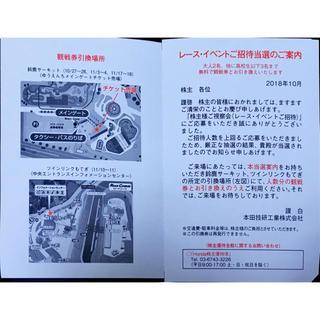 ホンダ(ホンダ)のホンダ レース イベントご招待(モータースポーツ)